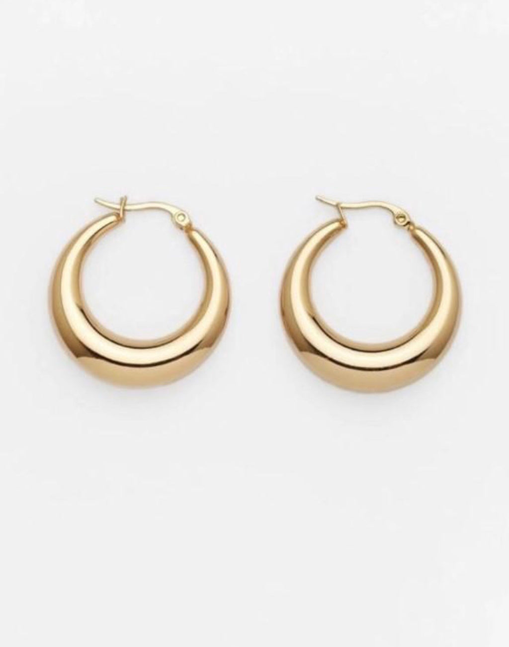 THE BRADY GOLD-PLATED CHUNKY HOOPS