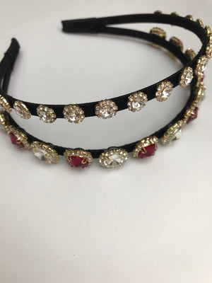 DOUBLE JEWELLED EMBELLISHED HEADBAND