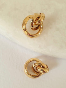 THE TRIO GOLD PLATED HOOPS