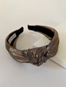 MARIGOLD BRONZE KNIT HEAD BAND