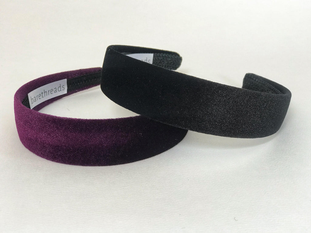 CATALINA FLAT VELVET HEADBAND- Assorted colours