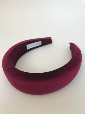 VELVET PADDED HALO ALICE BAND- ASSORTED COLOURS