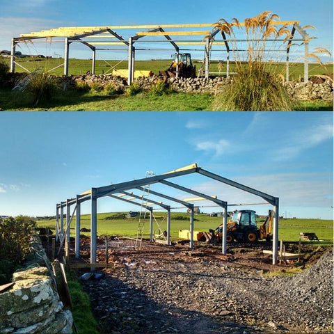 Deerness Distillery Building in Progress