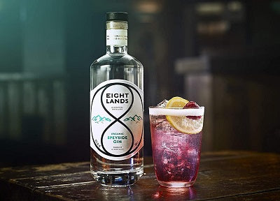 Eight Lands Gin Serve with Raspberry Tonic