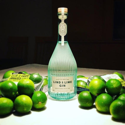 Lind & Lime Gin With Lime Garnishes