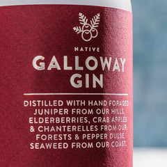 Native Galloway Gin Label