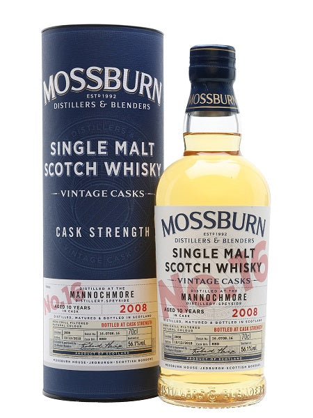 Mossburn No.16 Mannochmore 2008 Single Malt Scotch Whisky