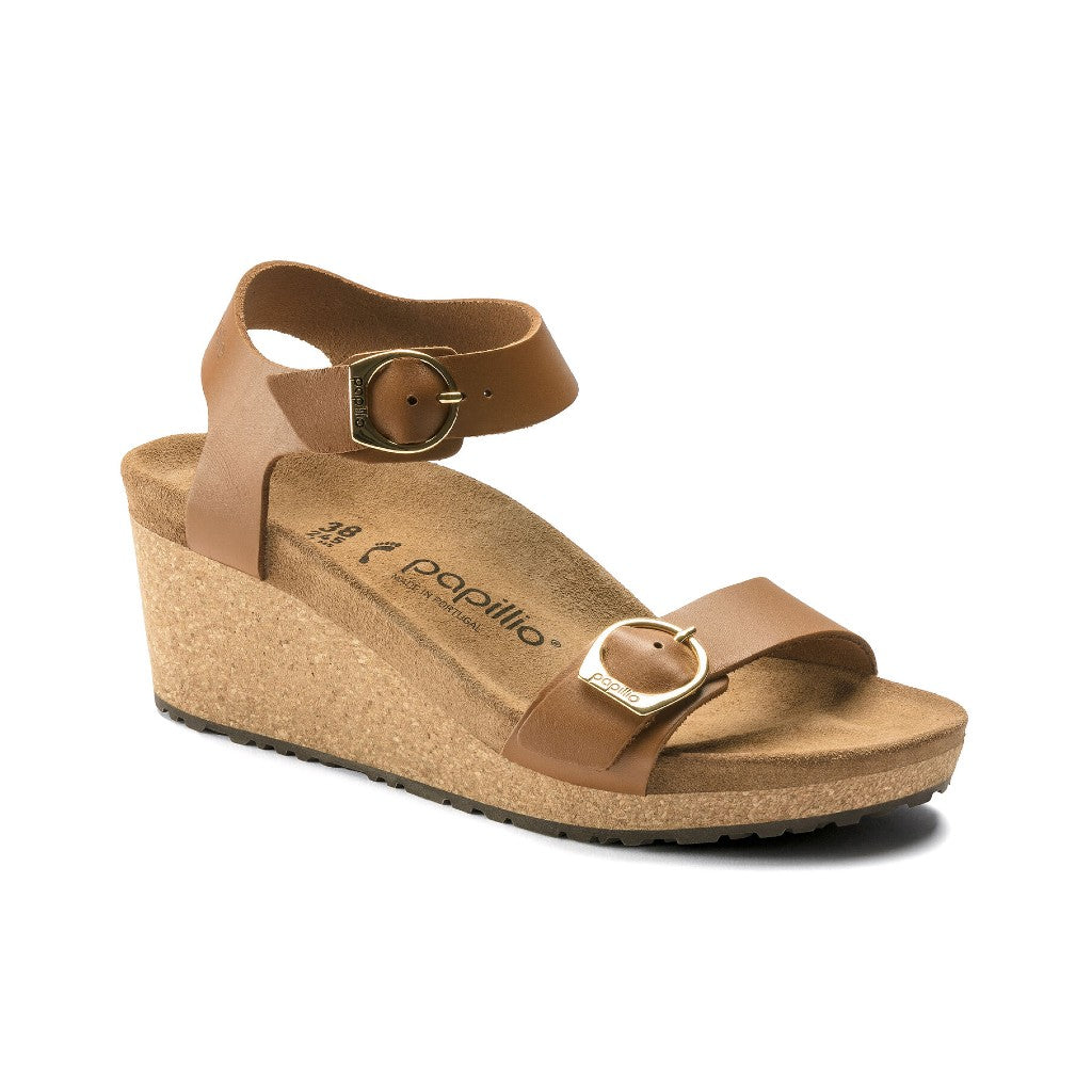 BIRK-SOLEY PAPILLIO-LEATHER-GINGER BROWN