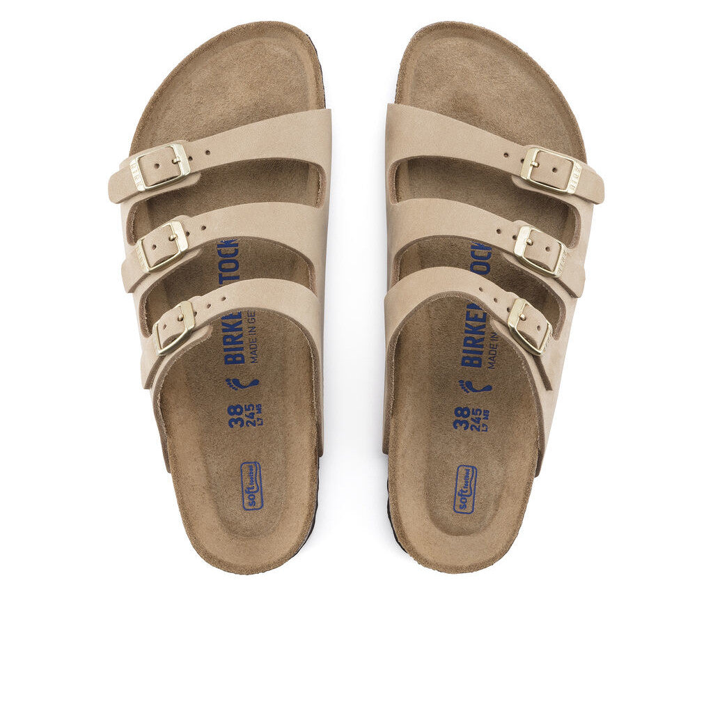BIRKENSTOCK FLORIDA FRESH SOFT FOOTBED NUBUCK SANDCASTLE