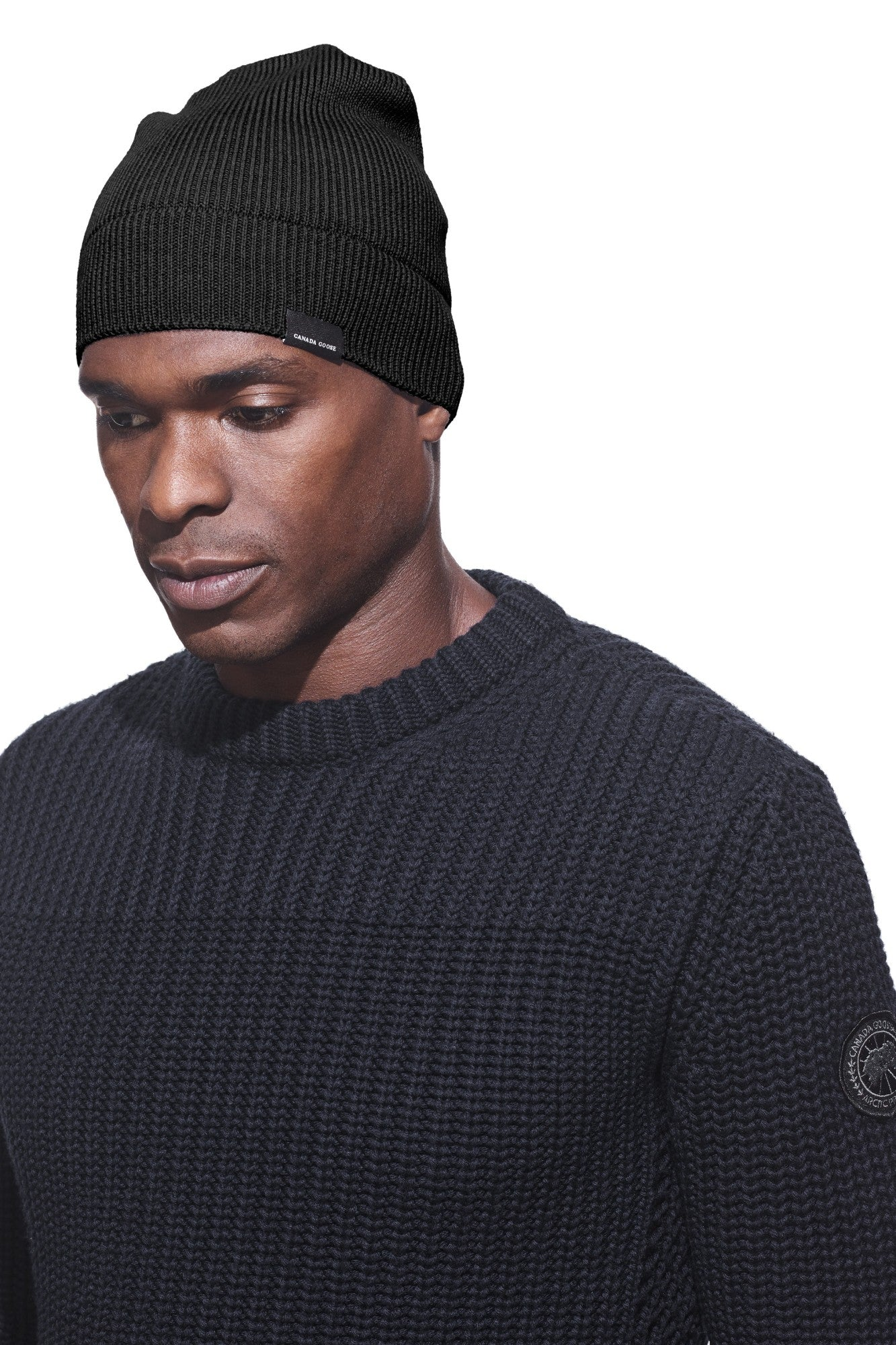 CANADA GOOSE FITTED BEANIE MEN