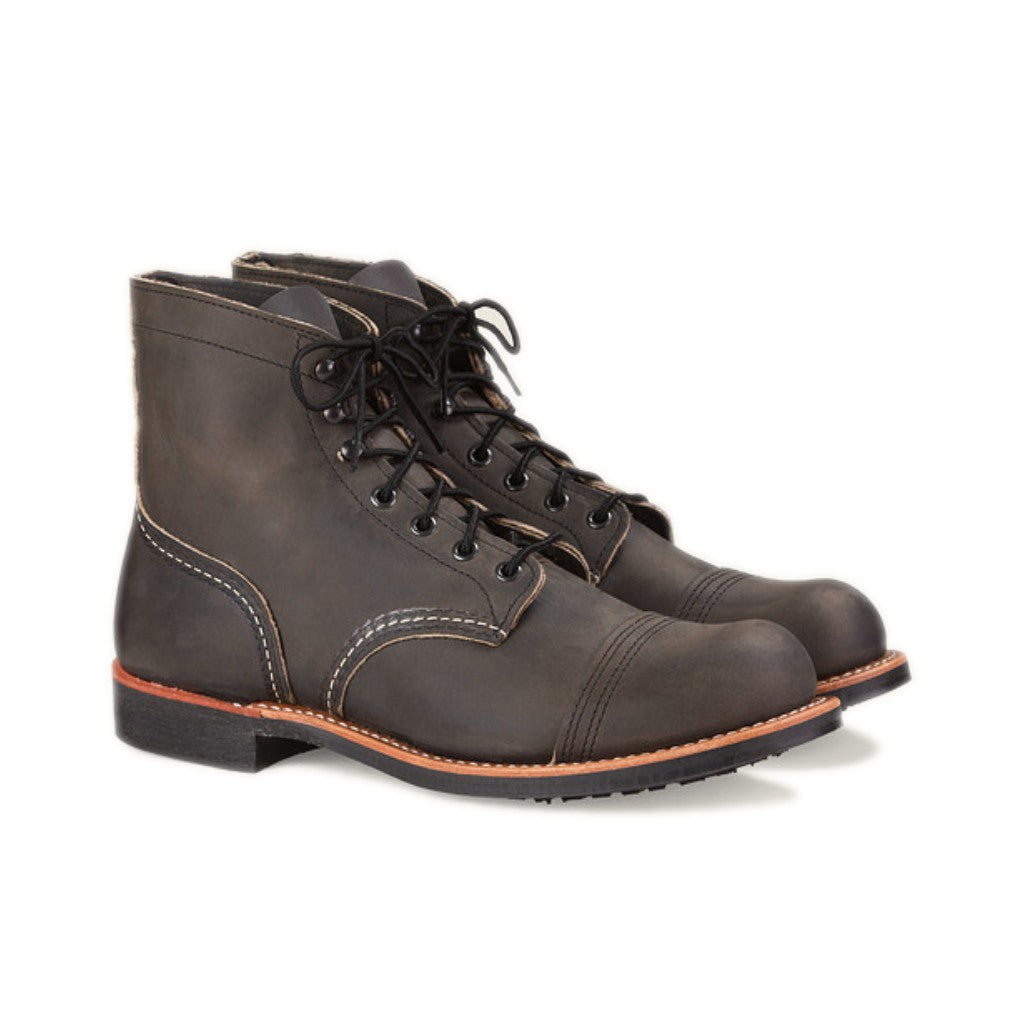 RED WING-MEN IRON RANGER-8086-CHARCOAL ROUGH E TOUGH