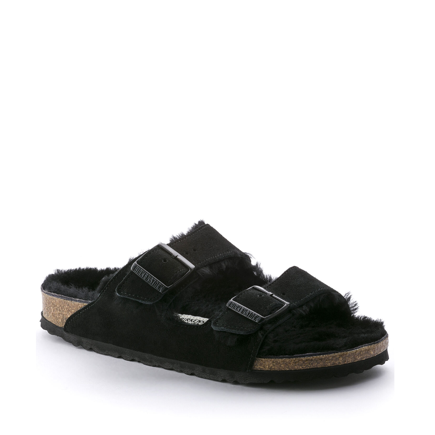 BIRK-ARIZONA SHEARLING-SUEDE LEATHER/FUR-BLACK