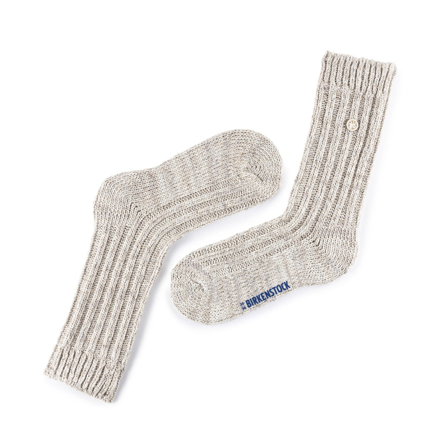 BIRK-COTTON BLING SOCKS WOMEN-EGGNOG