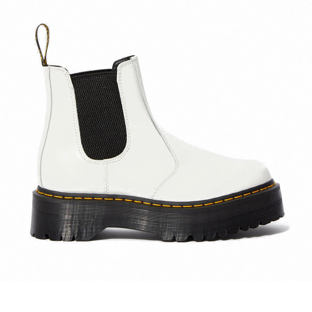 DR.MARTENS-2976 PLATFORM CHELSEA BOOT-WHITE SMOOTH