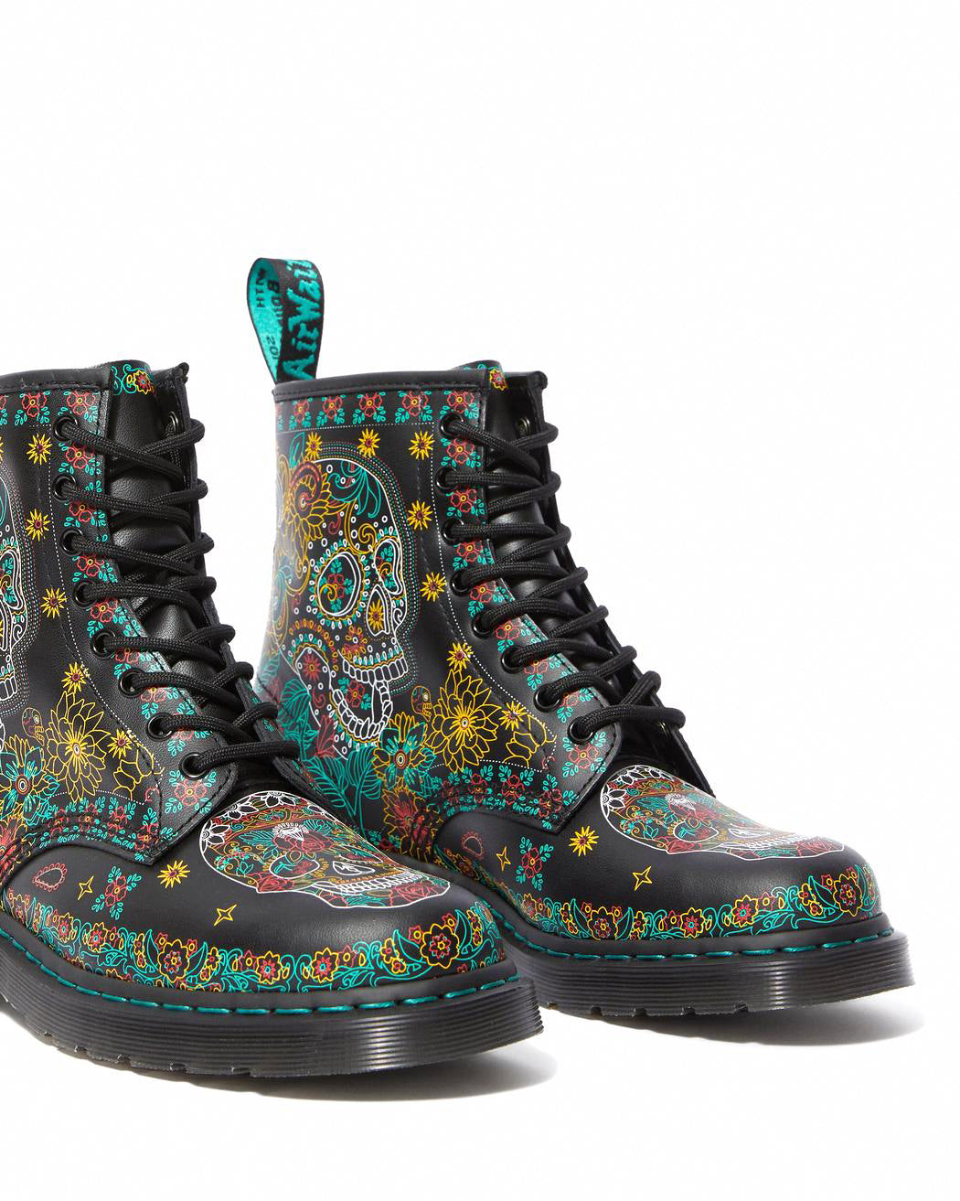 DR.MARTENS-1460 W SKULL-MULTI DAY OF THE DEAD BACKHAND