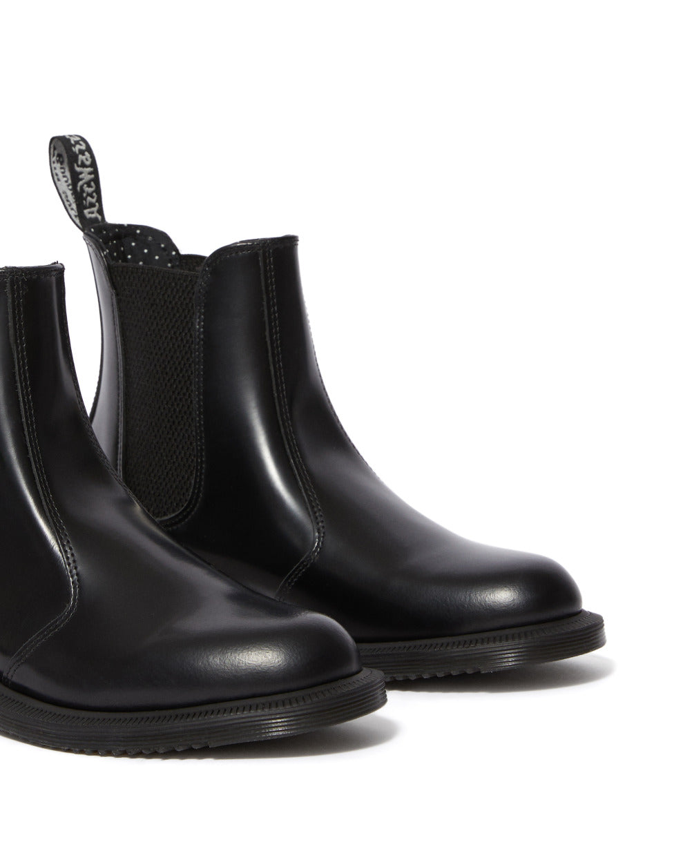 DR.MARTENS-FLORA-BLACK POLISHED SMOOTH