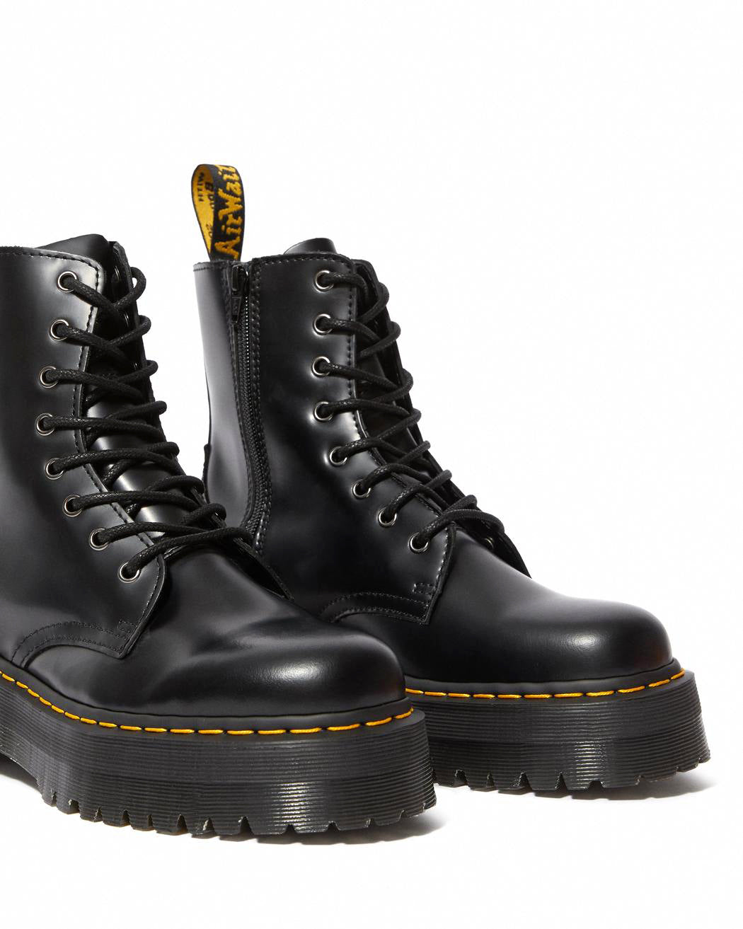 DR.MARTENS-JADON PLATFORM BOOT-BLACK SMOOTH