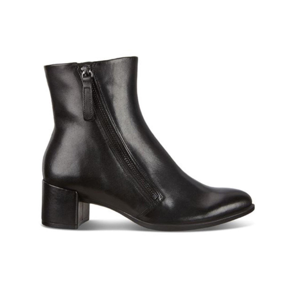 ECCO-SHAPE 35 BLOCK ZIPPERED ANKLE BOOT WOMEN-BLACK