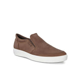 ECCO-SOFT 7 SLIP-ON SNEAKER MEN-COCOA BROWN