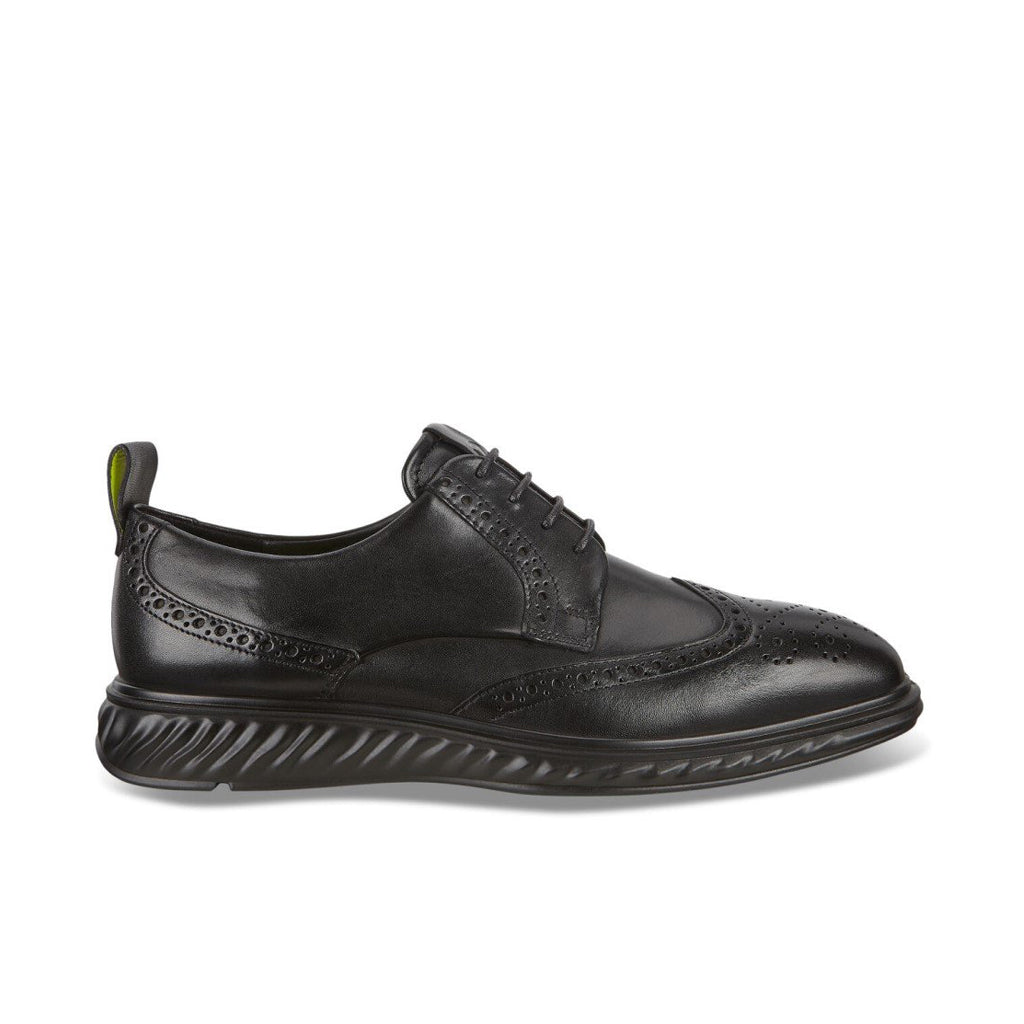 ECCO-ST.1 HYBRID LITE WINGTIP BROGUE SHOES MEN-BLACK/BLACK