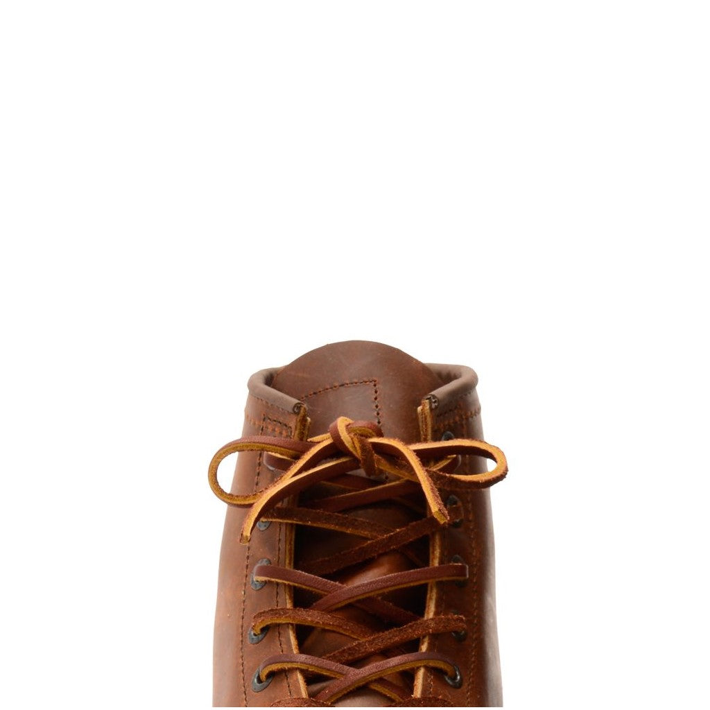 RED WING-80 INCHES LEATHER BOOT LACES-CHESTNUT