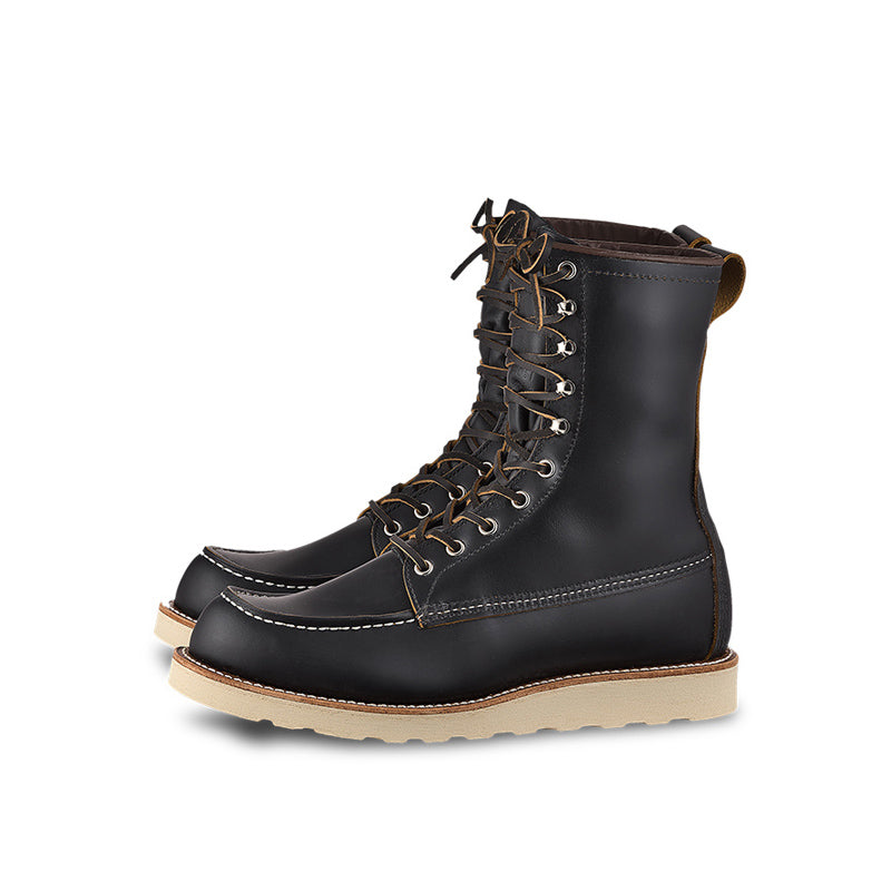 RED WING-MEN 8 INCHES CLASSIC MOC-8829-BLACK