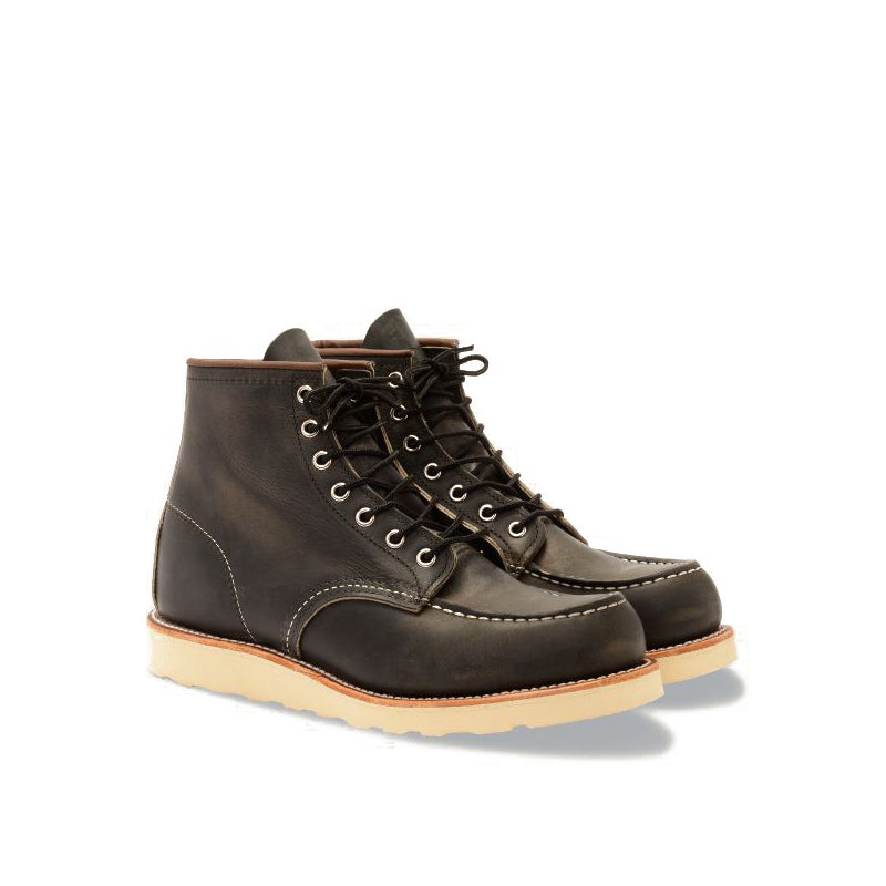 RED WING-MEN 6 INCHES CLASSIC MOC-8890-CHARCOAL ROUGHT & TOUGHT
