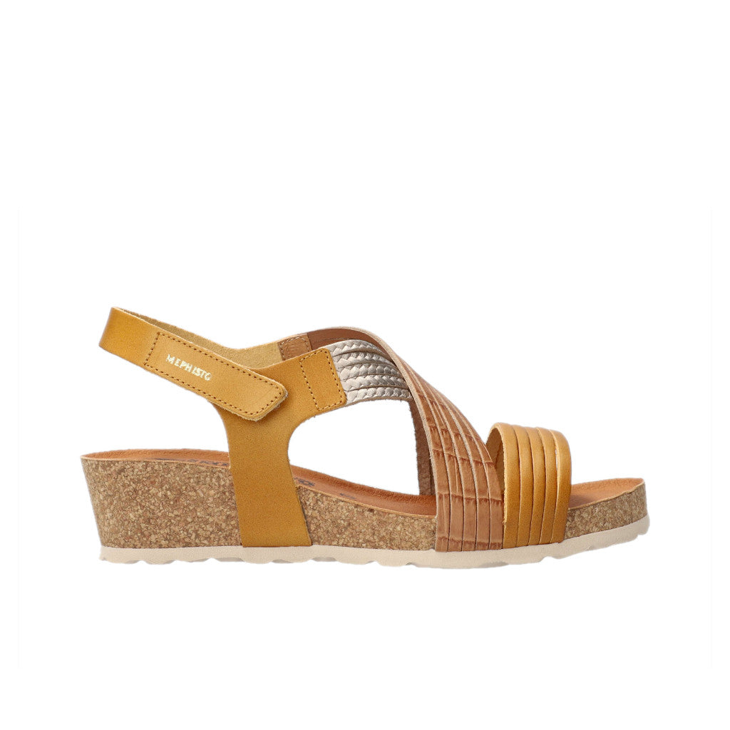 MEPHISTO RENZA WEDGE SANDALS WOMEN