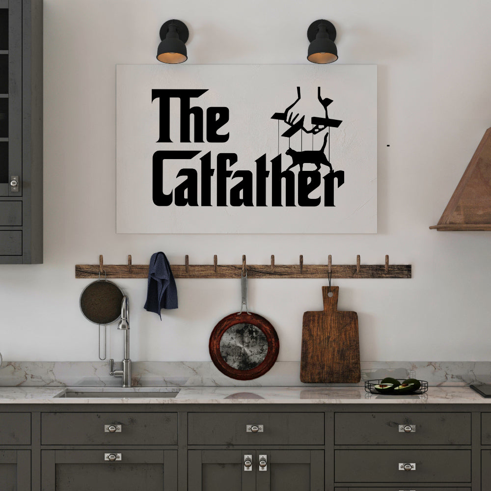 Catfather | Wandbild - MegaCat
