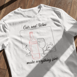 Laden Sie das Bild in den Galerie-Viewer, Cats and Wine | Unisex | T-Shirt - MegaCat