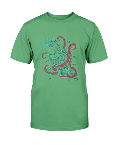 Image of Astronaut Caught By An Octopus T-Shirt