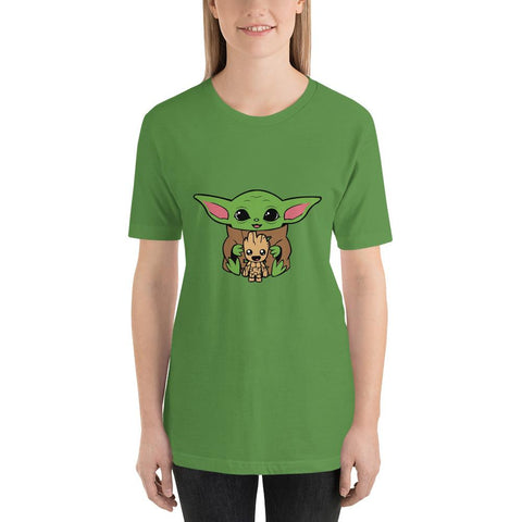 Image of Baby Yoda and Baby Groot T-Shirt