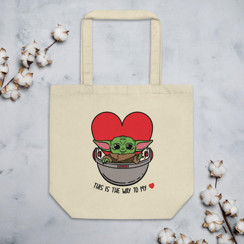Image of Baby Yoda Tote - This is the way to my heart!