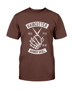 Barber Skull Hair Cutter Shirt T-Shirt