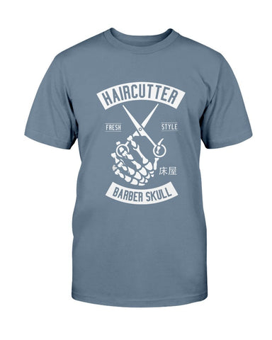 Image of Barber Skull Hair Cutter Shirt T-Shirt