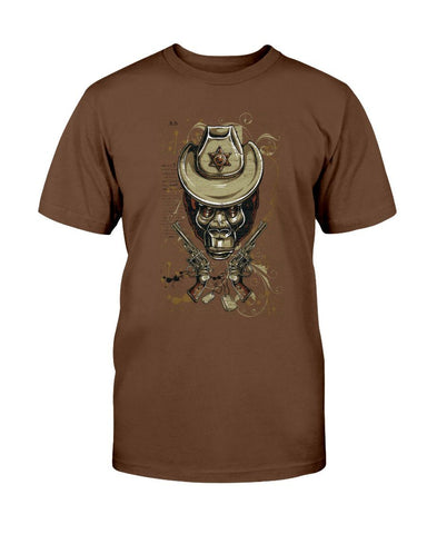 Image of Gorilla Sheriff Novelty T-Shirt