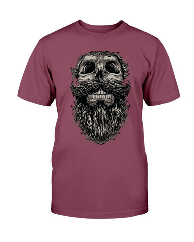Image of Hipster Skull Beard T-Shirt