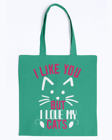 Image of I Like You But I Love My Cats Tote Bag