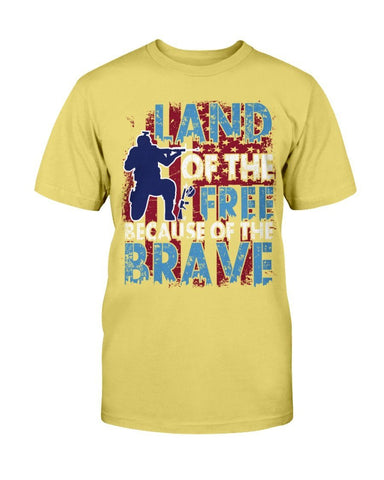 Image of Land Of The Free Because Of The Brave T-Shirt