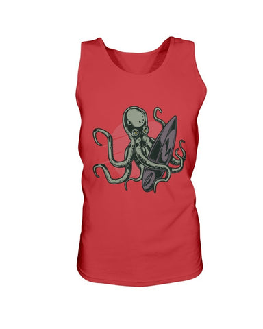 Image of Octopus Surfer Cotton Tank