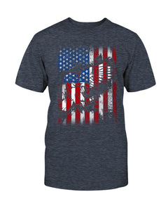 Patriotic T-Shirt - Flag With Eagles
