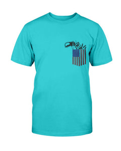Patriotic T-Shirt - Gun In Pocket -