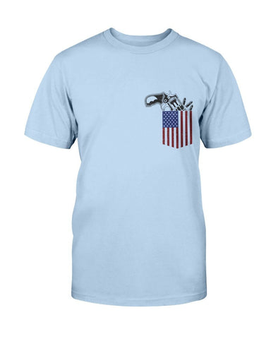 Image of Patriotic T-Shirt - Gun In Pocket -