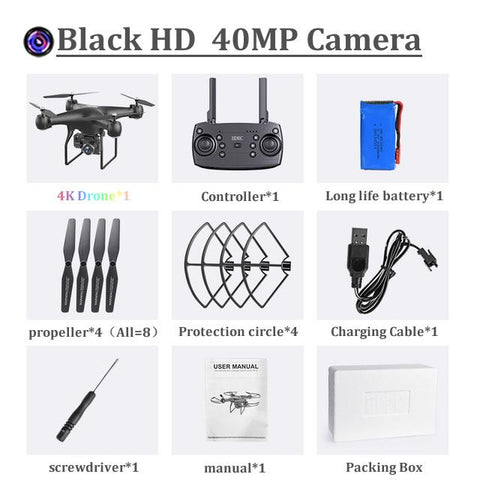 QuadCopter 40MP Dual Camera Drone