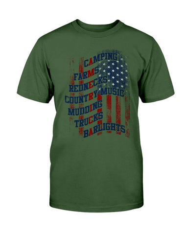 Image of Redneck Life T-Shirt- Camping, Music