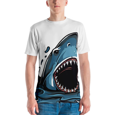Image of Shark Attack - Great White Attacking Full Print T-Shirt