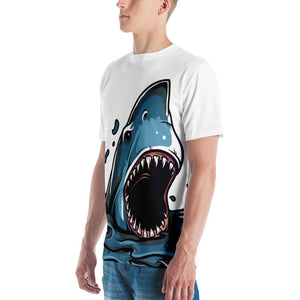 Shark Attack - Great White Attacking Full Print T-Shirt