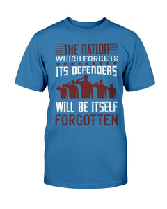 The Nation That Forgets - Veteran's T-shirt
