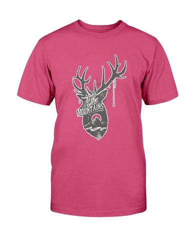 To The Mountains Deer Head T-Shirt