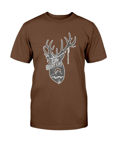 Image of To The Mountains Deer Head T-Shirt